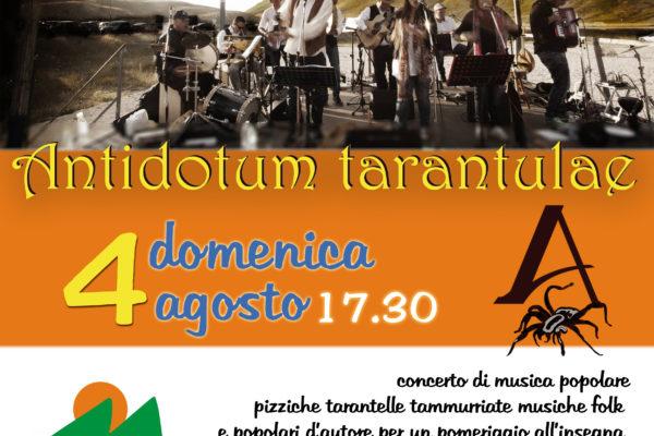 """Domenica 04 Agosto 2019 La Taranta con  """"Antidotum Tarantulae"""""""